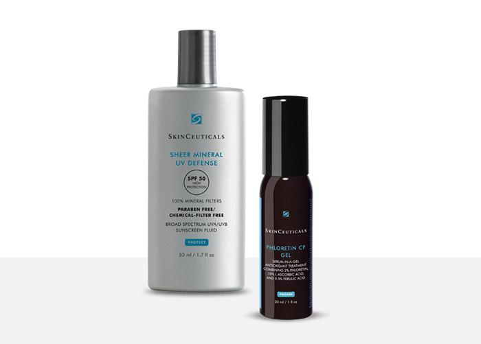 SkinCeuticals Sheer Mineral UV Defense SPF50 + Phloretin CF Gel