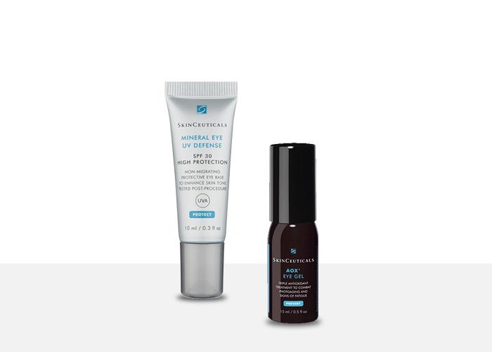 Mineral Eye Defense SPF30 + SkinCeuticals AOX + Eye Gel