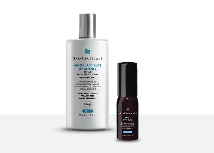 Mineral Radiance UV Defense SPF50 + SkinCeuticals AOX + Eye Gel