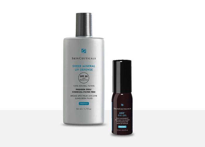 SkinCeuticals Sheer Mineral UV Defense SPF50 + SkinCeuticals AOX+ Eye Gel