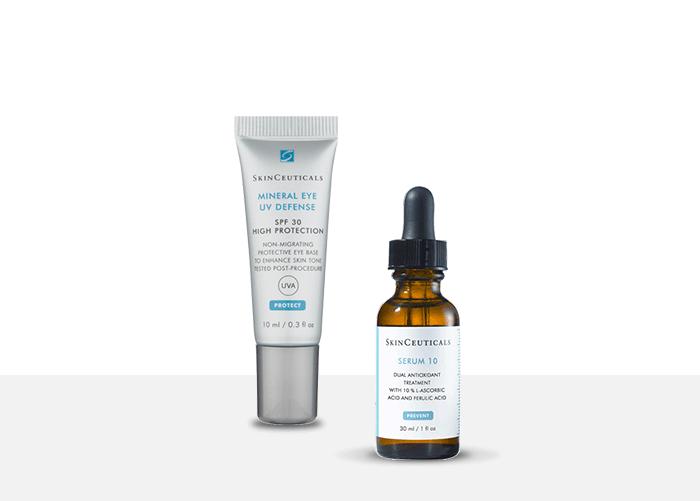 Mineral Eye Defense SPF30 + SkinCeuticals Serum 10