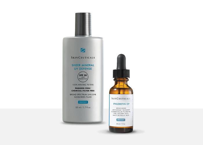SkinCeuticals Sheer Mineral UV Defense SPF50 + SkinCeuticals Phloretin CF